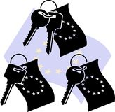 Clés d'UE Photographie stock