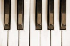 Clés d'un vieux piano Photos libres de droits