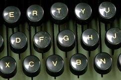 Clés d'une vieille machine à écrire Image libre de droits
