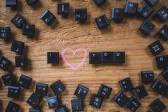 Clés de clavier sur le conseil Photos stock
