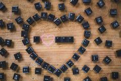 Clés de clavier sur le conseil Photo libre de droits