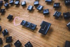 Clés de clavier sur le conseil Photographie stock libre de droits