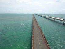 clés de la Floride de pont de 7 milles image libre de droits