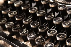 Clés de machine à écrire Photographie stock