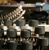 Clés de machine à écrire photographie stock libre de droits