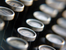 Clés de machine à écrire antique Image stock
