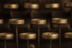 Clés de machine à écrire de vintage Photographie stock libre de droits