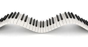 Clés de piano (chemin de coupure inclus) Photos stock