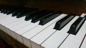 Clés de piano de Brown Photos stock