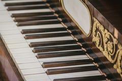 Clés de piano de vintage Photo stock