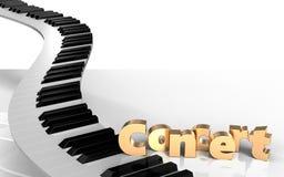 clés de piano de signe du concert 3d Image libre de droits