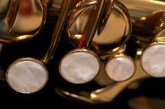 Clés de saxo Photographie stock