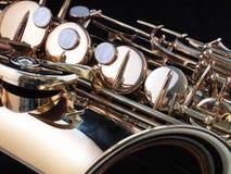 Clés de saxophone Photographie stock libre de droits
