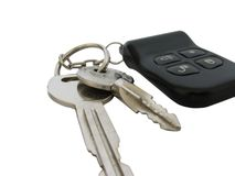 Clés de véhicule avec le distant Photo libre de droits