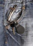 Clés de véhicule dans la poche Photo stock