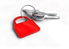 Clés de voiture avec le panneau routier de limitation de vitesse sur le porte-clés Photo stock