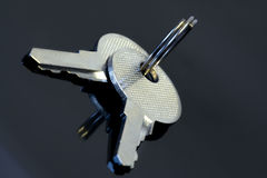 Clés en métal Photographie stock