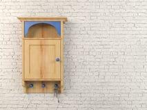 Clés et boîte principale en bois de support Photos stock