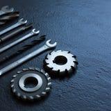 Clés, foret, outils de tour Orientation molle image stock