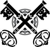 Clés médiévales. première variante Images stock
