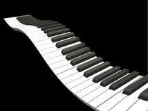 Clés ondulées de piano Photographie stock libre de droits