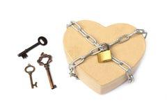 Clés pour l'amour Photo stock