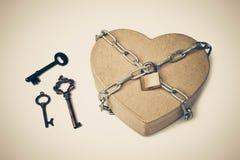 Clés pour l'amour Image stock
