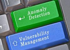 clés pour la détection d'anomalie et la gestion de vulnérabilité image stock