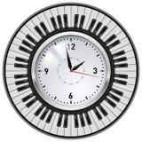 Clés réalistes d'horloge et de piano de bureau Photo stock