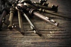 Clés squelettiques antiques de Chambre Photo libre de droits