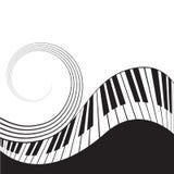 Clés stylisées et barre de piano Photos stock