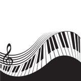 Clés stylisées et barre de piano illustration de vecteur