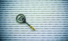 Clés sur le code binaire Images stock