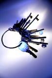 Clés sur le porte-clés Images stock