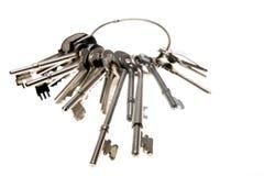 Clés sur le porte-clés Photographie stock