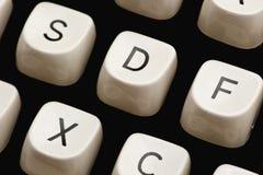 Clés sur une machine à écrire Photo stock