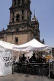 Clínica de la gripe en Ciudad de México céntrica Imagen de archivo libre de regalías