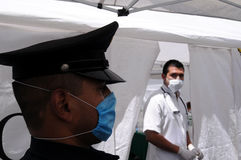 Clínica temporária em Cidade do México Fotografia de Stock Royalty Free