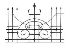 Clôture forgée décorative Photo stock