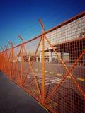Clôture orange photographie stock libre de droits