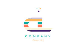 cl c l line stripes pastel color alphabet letter logo icon templ Stock Image