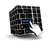 Clé de WWW de clavier Photos libres de droits