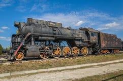 Cl locomotor L originalmente O del motor de vapor, producido en 4199 unidades por Kolomna 1945-1955, exhibido en el museo técnico Foto de archivo
