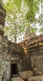 Clôture antique de temple de Prohm de ventres, Angkor Thom, Siem Reap, Cambodge Photographie stock libre de droits