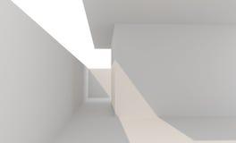 Clôture blanche vide de murs Photographie stock