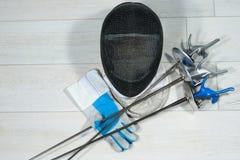 Clôture de l'équipement d'aluminium Photo stock