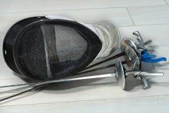 Clôture de l'équipement d'aluminium Photographie stock