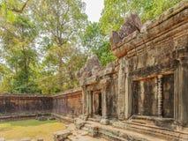 Clôture de temple de Prohm de ventres, Angkor Thom, Siem Reap, Cambodge Photographie stock libre de droits