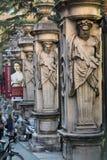 Clôture du ` Arte Antica de Nazionale d de puits de Palazzo Barberini avec des colonnes avec les atlantes d'image, Rome, Image libre de droits