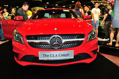 The CLA Coupe of the Mercedes-Benz on display during the Singapore Motorshow 2016 Stock Photo